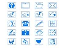 комплект иконы Стоковая Фотография RF