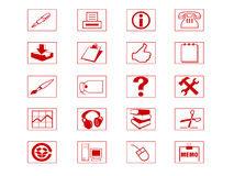 комплект иконы Стоковая Фотография