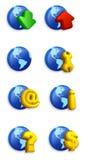 комплект иконы Стоковые Фотографии RF