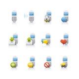 комплект иконы comunications Стоковые Фотографии RF