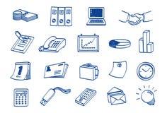 комплект иконы doodle дела Стоковые Фотографии RF