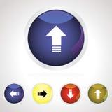 комплект иконы download кнопки цветастый Стоковая Фотография RF