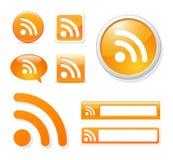 Комплект иконы Rss бесплатная иллюстрация