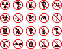 Комплект икон: загрязнение, промышленно, опасное стоковые фото