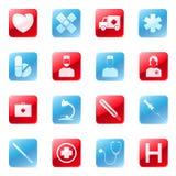 комплект икон медицинский Стоковая Фотография RF