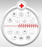 комплект икон медицинский Стоковые Изображения