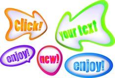 Комплект икон пузыря стрелки цвета Стоковая Фотография RF
