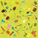 Комплект икон столового прибора Стоковое Фото