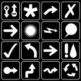 Комплект икон (стрелок, ярлыков) Стоковое Изображение RF