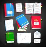 Комплект иллюстрации вектора взгляд сверху книги иллюстрация вектора