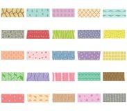 Комплект иллюстрации вектора милой красочной ленты для маскировки нарисованной рукой стоковые фотографии rf