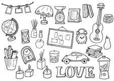 Комплект иллюстрации внутренних товаров Стоковое Изображение
