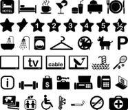 комплект иллюстрации иконы гостиницы Стоковое фото RF