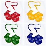 Комплект 4 иллюстраций с печеньями пряника рождества Стоковая Фотография RF