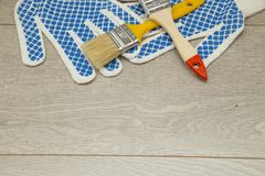 Комплект инструментов для красить дом Стоковая Фотография