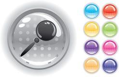 комплект интернета иконы кнопок Стоковые Изображения