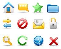 комплект интернета иконы Стоковая Фотография RF