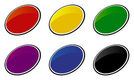 комплект интернета икон цвета Стоковая Фотография