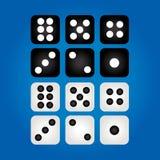 Комплект казино dices Стоковая Фотография