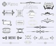 Комплект каллиграфических конструкций Стоковая Фотография RF
