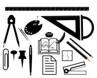 Комплект канцелярских принадлежностей для канцелярские товаров Стоковые Изображения