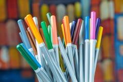 Комплект карандашей чертежа цвета Стоковые Изображения RF