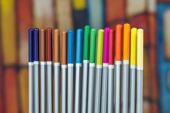 Комплект карандашей чертежа цвета Стоковое фото RF