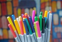 Комплект карандашей чертежа цвета Стоковые Изображения