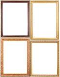 Комплект картинных рамок на белизне Стоковое фото RF