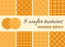 комплект картины безшовный Текстура waffle, конуса мороженого Иллюстрация для сети, место шаржа, рекламируя бесплатная иллюстрация