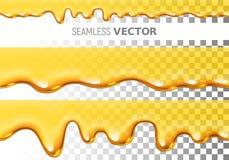 Комплект картины меда капания прозрачного вектора 2 безшовной на checkered предпосылке бесплатная иллюстрация