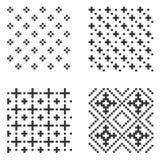Комплект картины пиксела безшовный вектор иллюстрация вектора
