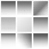 Комплект картины точек полутонового изображения Стоковое Изображение