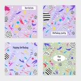 Комплект карточек и приглашений партии бесплатная иллюстрация