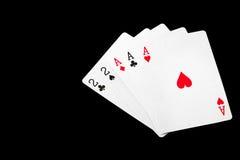 Комплект карточки покера выигрыша Стоковые Фотографии RF