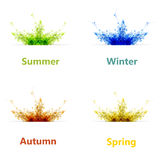 Комплект карточки сезона 4 цветов Стоковое фото RF
