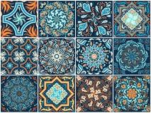 Комплект квадратных картин в этническом стиле Стоковое Изображение RF