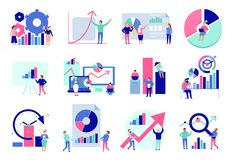 Комплект квартиры анализа данных бесплатная иллюстрация