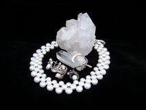 комплект кварца перлы Стоковые Изображения RF