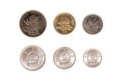 Комплект китайских монеток Стоковая Фотография