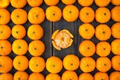 Комплект Клементинов или алжирских мандаринов Стоковое фото RF