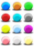 комплект кнопки круглый иллюстрация вектора