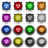 Комплект кнопки радиации Стоковые Изображения