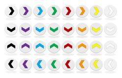 комплект кнопки стрелки цветастый Стоковое Фото