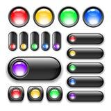 комплект кнопки Стоковая Фотография