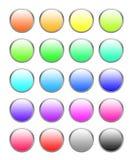 комплект кнопки Стоковые Изображения RF