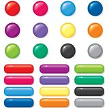 Комплект кнопки 3D Стоковое Фото