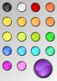 комплект кнопок круглый Стоковые Изображения RF