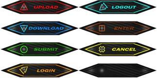 Комплект кнопок сети Стоковая Фотография RF