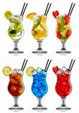 Комплект коктеиля спирта Стоковые Изображения RF